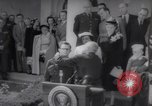 Image of President Harry S Truman presents Medals of Honor Washington DC USA, 1952, second 9 stock footage video 65675072673