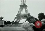 Image of German propaganda newspaper printing World War 2 Paris France, 1940, second 6 stock footage video 65675072693
