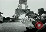 Image of German propaganda newspaper printing World War 2 Paris France, 1940, second 7 stock footage video 65675072693