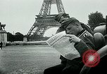 Image of German propaganda newspaper printing World War 2 Paris France, 1940, second 8 stock footage video 65675072693