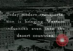 Image of modern transportation Middle East, 1936, second 1 stock footage video 65675072703