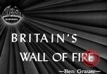Image of fire wall set up United Kingdom, 1945, second 1 stock footage video 65675072721