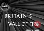 Image of fire wall set up United Kingdom, 1945, second 3 stock footage video 65675072721