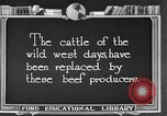 Image of cattle ranch United States USA, 1922, second 2 stock footage video 65675072785