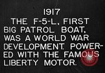 Image of Felixstowe F5L Flying Patrol Boats United States USA, 1917, second 12 stock footage video 65675072804