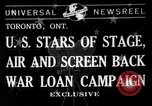 Image of War Loan Campaign Toronto Ontario Canada, 1941, second 1 stock footage video 65675072843