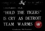 Image of Detroit Tigers baseball team Spring Training Lakeland Florida USA, 1941, second 1 stock footage video 65675072851