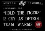 Image of Detroit Tigers baseball team Spring Training Lakeland Florida USA, 1941, second 2 stock footage video 65675072851