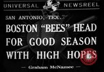 Image of Boston Bees San Antonio Texas USA, 1941, second 1 stock footage video 65675072853