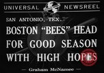 Image of Boston Bees San Antonio Texas USA, 1941, second 4 stock footage video 65675072853