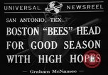 Image of Boston Bees San Antonio Texas USA, 1941, second 7 stock footage video 65675072853