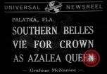 Image of beauty pageant Palatka Florida USA, 1941, second 7 stock footage video 65675072854