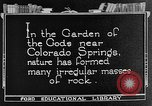 Image of Garden of the Gods Colorado Springs Colorado USA, 1922, second 1 stock footage video 65675072886