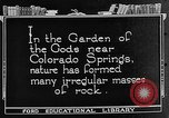 Image of Garden of the Gods Colorado Springs Colorado USA, 1922, second 3 stock footage video 65675072886