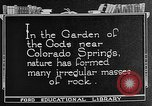 Image of Garden of the Gods Colorado Springs Colorado USA, 1922, second 5 stock footage video 65675072886