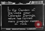 Image of Garden of the Gods Colorado Springs Colorado USA, 1922, second 6 stock footage video 65675072886
