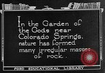 Image of Garden of the Gods Colorado Springs Colorado USA, 1922, second 7 stock footage video 65675072886