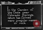 Image of Garden of the Gods Colorado Springs Colorado USA, 1922, second 9 stock footage video 65675072886
