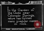 Image of Garden of the Gods Colorado Springs Colorado USA, 1922, second 11 stock footage video 65675072886