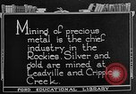 Image of gold panning Leadville Colorado USA, 1922, second 2 stock footage video 65675072890