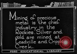 Image of gold panning Leadville Colorado USA, 1922, second 6 stock footage video 65675072890