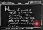 Image of gold panning Leadville Colorado USA, 1922, second 8 stock footage video 65675072890