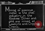 Image of gold panning Leadville Colorado USA, 1922, second 10 stock footage video 65675072890