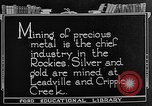 Image of gold panning Leadville Colorado USA, 1922, second 11 stock footage video 65675072890