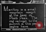 Image of cog railway Pikes Peak Colorado USA, 1922, second 1 stock footage video 65675072892