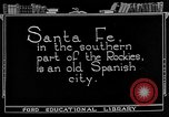 Image of city street Santa Fe New Mexico USA, 1922, second 2 stock footage video 65675072893