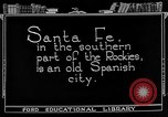 Image of city street Santa Fe New Mexico USA, 1922, second 3 stock footage video 65675072893