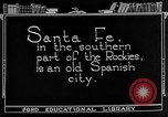 Image of city street Santa Fe New Mexico USA, 1922, second 4 stock footage video 65675072893