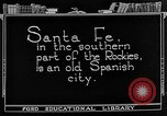 Image of city street Santa Fe New Mexico USA, 1922, second 7 stock footage video 65675072893