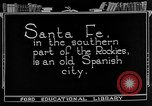 Image of city street Santa Fe New Mexico USA, 1922, second 10 stock footage video 65675072893