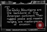 Image of landscapes Rocky Mountains United States USA, 1922, second 2 stock footage video 65675072894