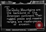 Image of landscapes Rocky Mountains United States USA, 1922, second 4 stock footage video 65675072894