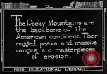 Image of landscapes Rocky Mountains United States USA, 1922, second 5 stock footage video 65675072894