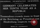 Image of 10th Republic Day celebration Berlin Germany, 1929, second 2 stock footage video 65675072928