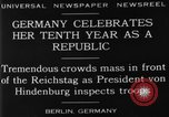 Image of 10th Republic Day celebration Berlin Germany, 1929, second 8 stock footage video 65675072928
