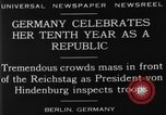 Image of 10th Republic Day celebration Berlin Germany, 1929, second 11 stock footage video 65675072928