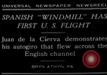 Image of autogyro flight Bryn Athyn Pennsylvania USA, 1929, second 1 stock footage video 65675072932