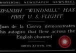 Image of autogyro flight Bryn Athyn Pennsylvania USA, 1929, second 2 stock footage video 65675072932
