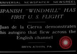 Image of autogyro flight Bryn Athyn Pennsylvania USA, 1929, second 3 stock footage video 65675072932