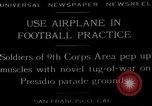 Image of football practice San Francisco California USA, 1929, second 1 stock footage video 65675072933