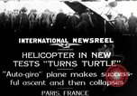 Image of crashed landing Paris France, 1928, second 1 stock footage video 65675072945