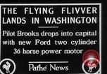 Image of aircraft landing Washington DC USA, 1928, second 2 stock footage video 65675072948