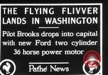 Image of aircraft landing Washington DC USA, 1928, second 5 stock footage video 65675072948