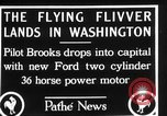 Image of aircraft landing Washington DC USA, 1928, second 7 stock footage video 65675072948