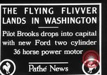 Image of aircraft landing Washington DC USA, 1928, second 9 stock footage video 65675072948