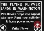 Image of aircraft landing Washington DC USA, 1928, second 10 stock footage video 65675072948